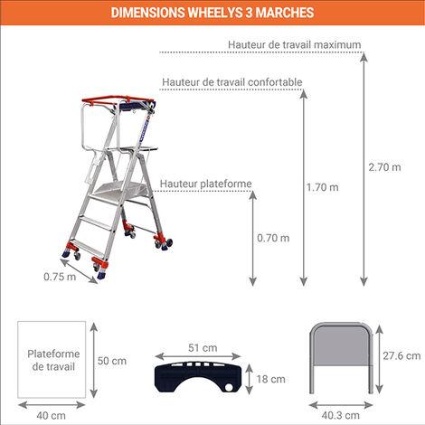 Echelle roulante - Wheelys (plusieurs tailles disponibles)