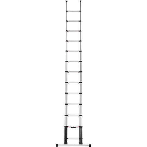 Echelle télescopique 4.10m avec barre stabilisatrice (plusieurs tailles disponibles)