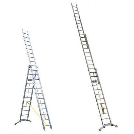 Echelle transformable 3 plans à corde (plusieurs tailles disponibles)