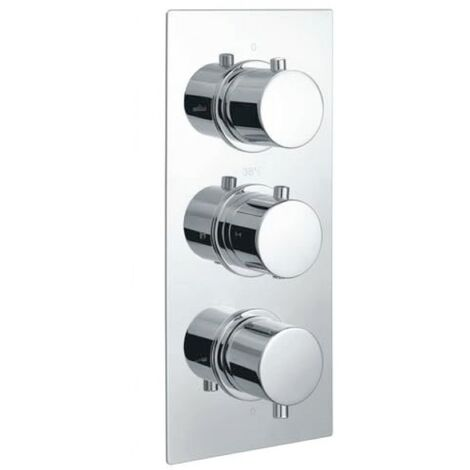 Echo Round Chrome Triple Thermostatic Concealed Shower Valve (TMV2)