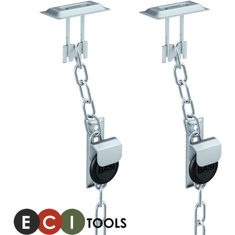 ECI® Gitterrostsicherung Stahl verzinkt Zusatzsicherung für Lichtschacht / Kellerschacht