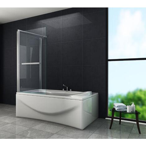 Eck-Duschtrennwand UNIONO (Badewanne)