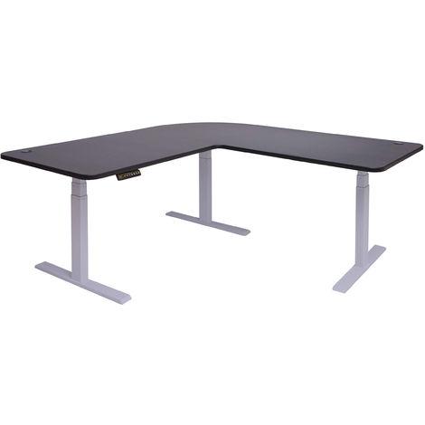 Eck-Schreibtisch HHG-772, Bürotisch Computertisch, elektrisch höhenverstellbar Memory 178x178cm 84kg