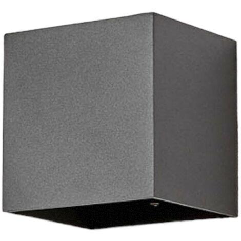 Eckige LED-Außenwandlampe Evie