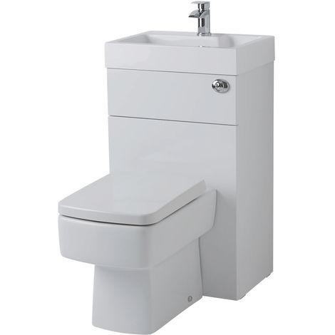 Fabulous Eckige Toilette mit Spülkasten und integriertem Waschbecken FJ84