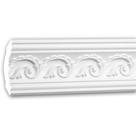 Eckleiste PROFHOME 150281F Stuckleiste Flexible Leiste Zierleiste Zeitloses Klassisches Design wei/ß 2 m
