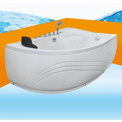 Eckwanne Whirlpool Raumsparwunder Pool Badewanne A617-B-ALL 160x100