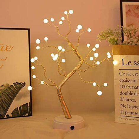 Éclairage d'arbre à LED en forme de perle - 36 LED - 45 cm - Alimenté par piles - Pour Noël, Pâques, décoration d'intérieur