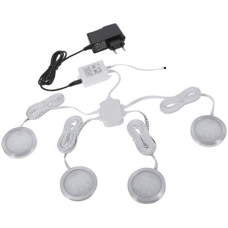 Eclairage D'Armoire A Led, Changement De Couleur, Dimmable, Luminosite Reglable, Telecommande, 4Pcs