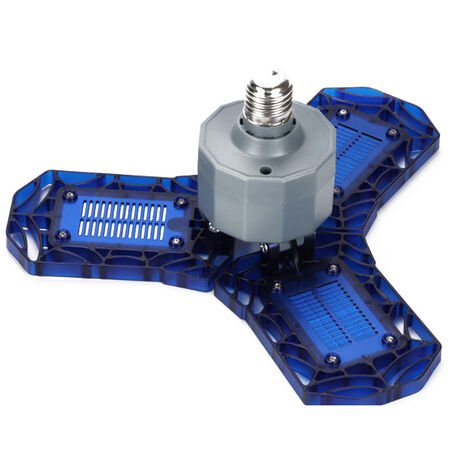 eclairage de garage a LED pliant deforme E27 port a vis bleu 40W