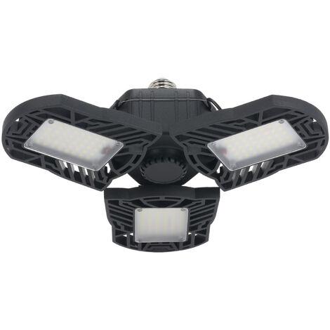 Eclairage de garage LED AC85-265V 6000lm interface ampoule pliable E26 / E27