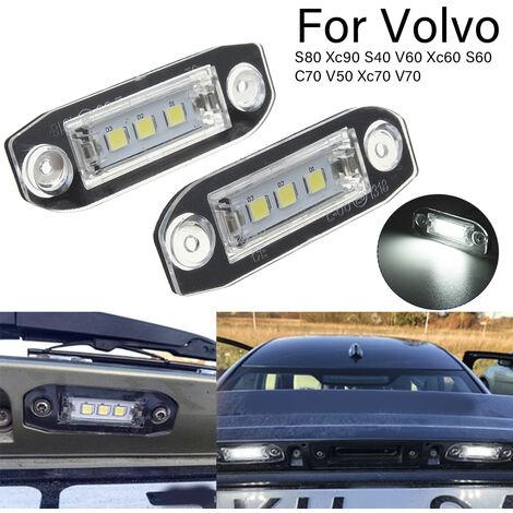 Éclairage de plaque d'immatriculation LED Eluto pour Volvo S80 Xc90 S40 V60 Xc60 S60 C70 V50 Xc70 V70