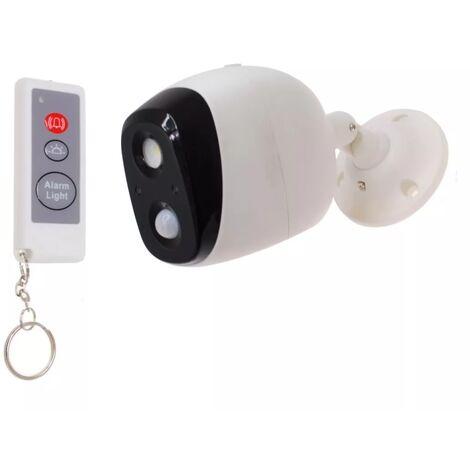 Éclairage extérieur & alarme autonome nocturne 3-en-1 (détecteur de mouvement + lumière + sirène) avec télécommande