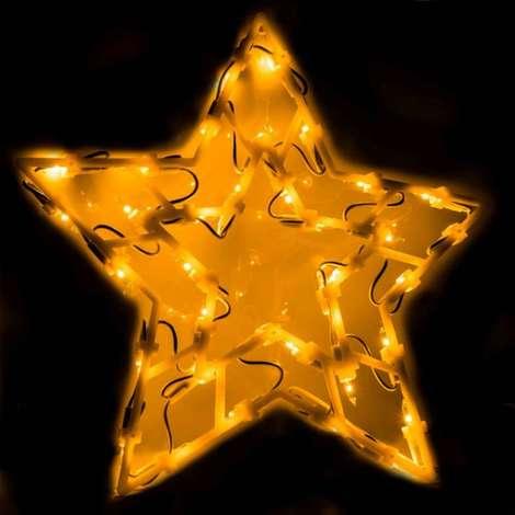 Éclairage figurine de fenêtre 35 ampoules Étoile