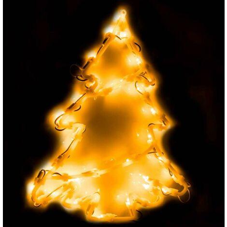Éclairage figurine de fenêtre 35 ampoules Sapin