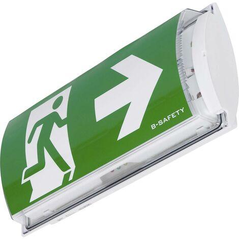 Eclairage LED dissue de secours B-SAFETY FROST-LUX STANDARD BR561030 montage apparent au mur Sortie, issue de secours,