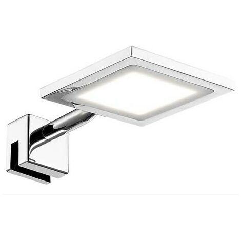 Eclairage miroir salle de bain LED IP44 Telline carré - Argent