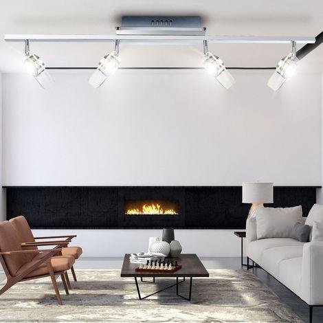 Éclairage plafonnier DEL 20 watts lampe spots mobiles verre clair couloir LED