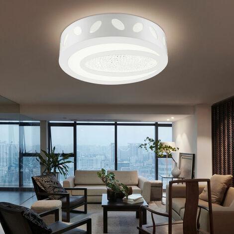 Éclairage plafonnier DEL 21 watts luminaire plafond lampe décor cristal  chambre