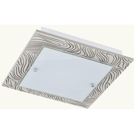 Éclairage plafonnier DEL 24 watts luminaire plafond lampe acier verre bord décoratif