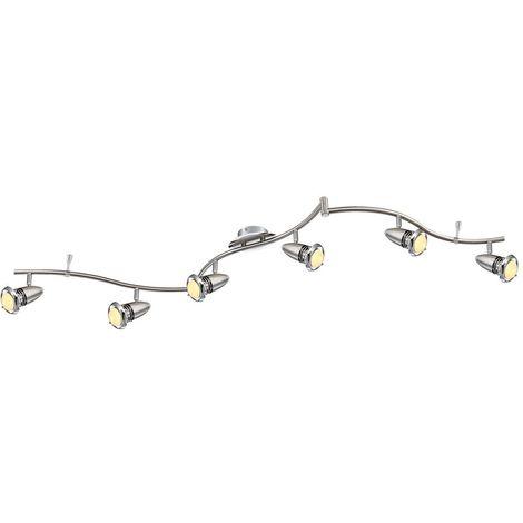 Éclairage plafonnier DEL 24 watts luminaire plafond lampe spots mobiles chrome