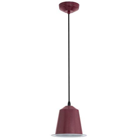 Éclairage plafonnier DEL 5 watts suspension lampe LED luminaire plafond bordeaux