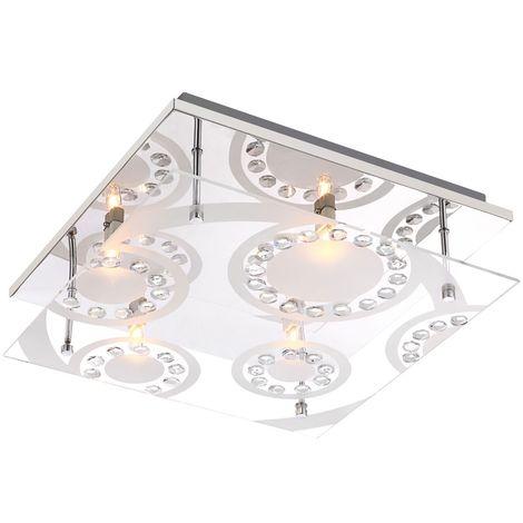 Éclairage plafonnier luminaire plafond lampe cristaux K5 verre couloir salle de séjour