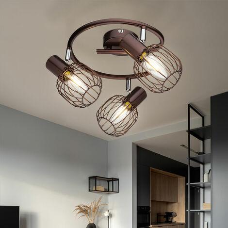 Éclairage plafonnier luminaire plafond rustique couloir salle de séjour chambre