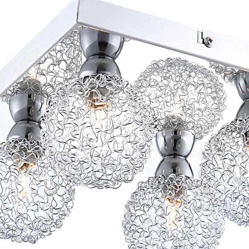 Plafonnier lampe lumière treillis blanc chaud salle à manger meubles spot