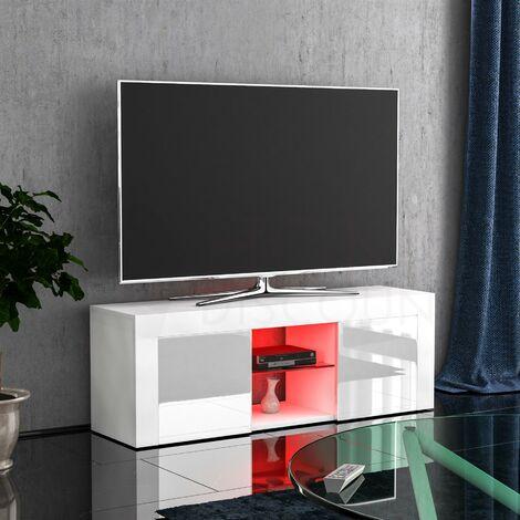Eclipse 2 Door LED TV Unit, White