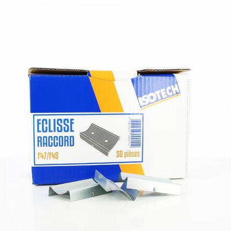 Éclisse raccord F47/F45 pour fourrure 80 mm x 50 Isotech | Boîte de 50