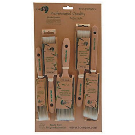 Eco Ezee Round Paint Brush Set, Synthetic/Natural Bristle, Set of 5