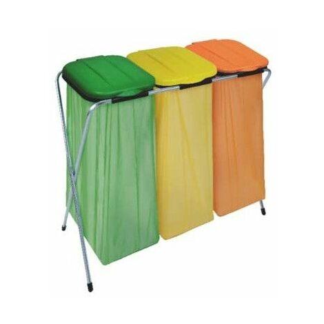 Eco-fix 3 supports sac poubelle - 95 x 37 x 86 cm - Métal