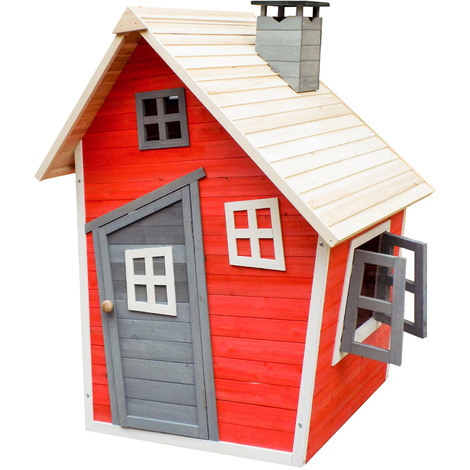 Eco-friendly playhouse for kids made of spruce wood Kids playhouse Wooden house Garden