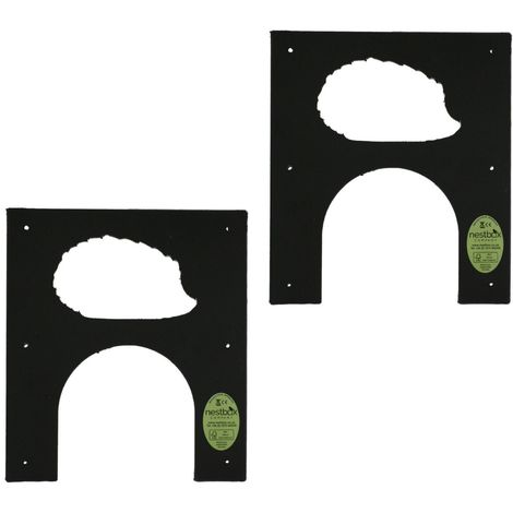 Eco Hedgehog Hole Protection Plate for Fence or Wall Twin Pack