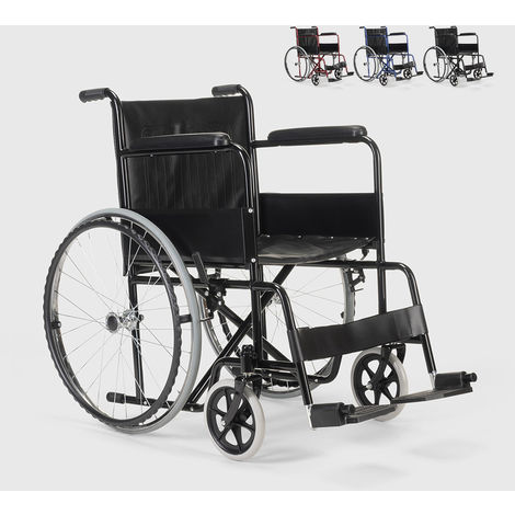 Eco leather folding folding wheelchair for the disabled and elderly VIOLET