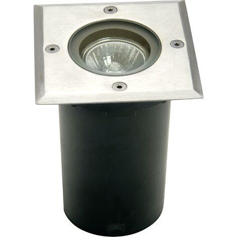 ECO-Light Berlin 1 7005 B-GU10 Außeneinbauleuchte GU10 Halogen 35W Silber V777061