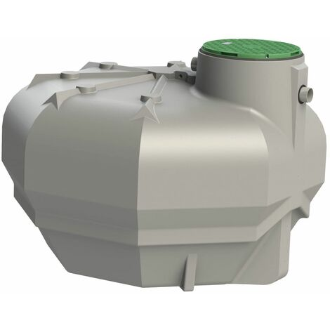 Ecobase cuve de stockage d'eau de pluie basique - Plate 5000 L