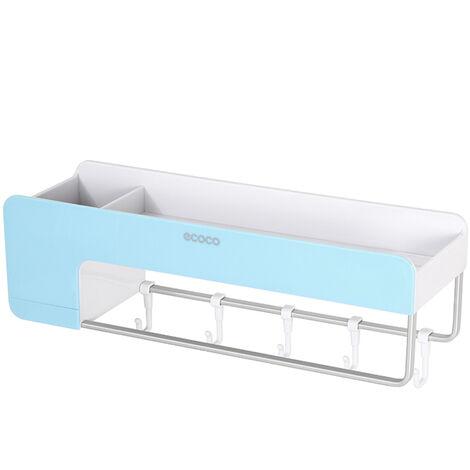 Ecoco Bathroom Shelf Storage Organizer Wall Mounted Magnetic Blue