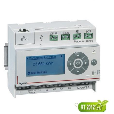 Ecocompteur modulaire - 6 postes - 412000 - Legrand