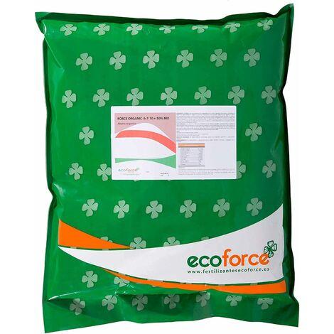 EcoForce Force Organique 5 kg. Engrais Organique NPK (6-7-10) + 50%