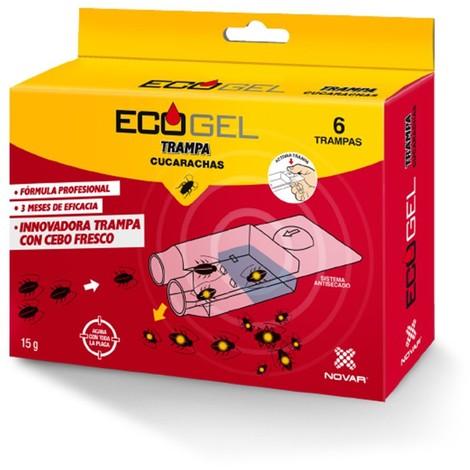Ecogel Cucarachas Kit 6 Trampas 15 Grs. - NEOFERR