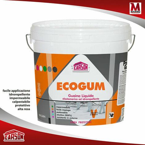 "main image of ""ECOGUM guaina liquida elastomerica pedonabile 14 lt - Carson CAPACITÀ 14 LT - Colorazione Verde"""