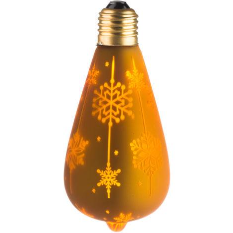 """Ecolicht 30050130001 0,5 W bombilla LED E27 ST64 360 - Ambiente decorativo """"NIEVE"""" Dor"""