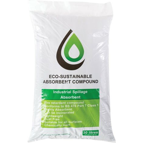 Ecospill Eco Sustainable Absorbent Compound 30L Bag