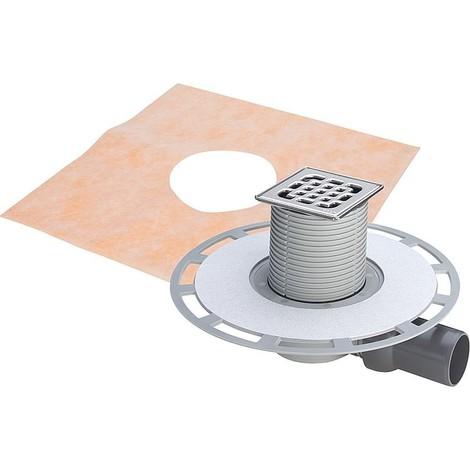ecoulement de receveur Viega 4939 en plastique gris