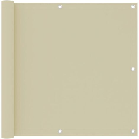 Écran de balcon Crème 90x500 cm Tissu Oxford