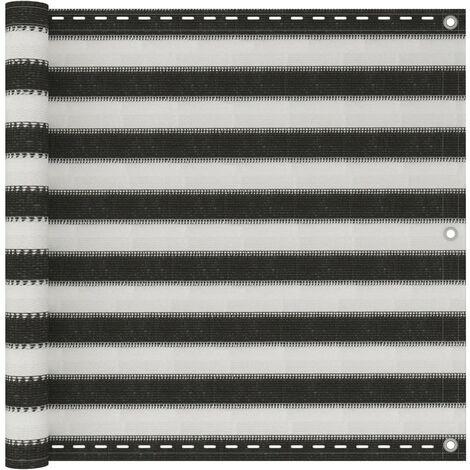 Écran de balcon en PEHD 90x400 cm Anthracite et blanc