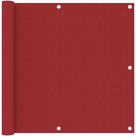 Écran de balcon Rouge 90x600 cm Tissu Oxford