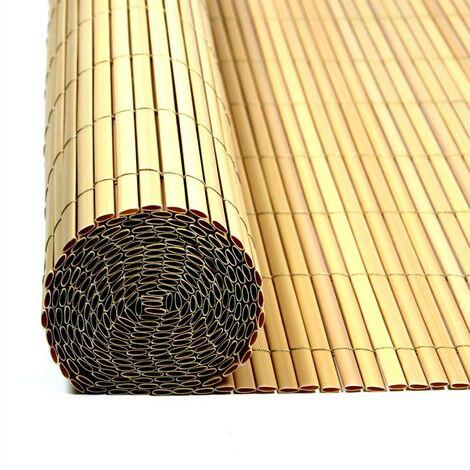 Écran de confidentialité de clôture de PVC bambou de balcon de clôture 0,8x6m